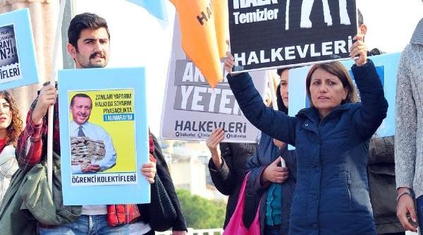 Antalya'da Dolarli Protesto