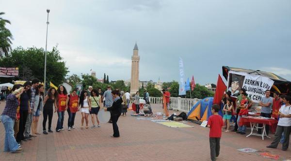 Antalya'da Gezi Protestosu Olaysız Bitti