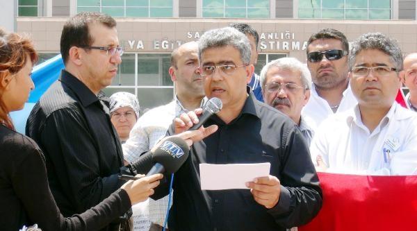 Antalya'da Türk Sağlık Sen'den Soma Eylemi