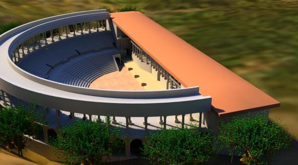 Antik Roma Tiyatrosu'na Tel Örgülü Koruma