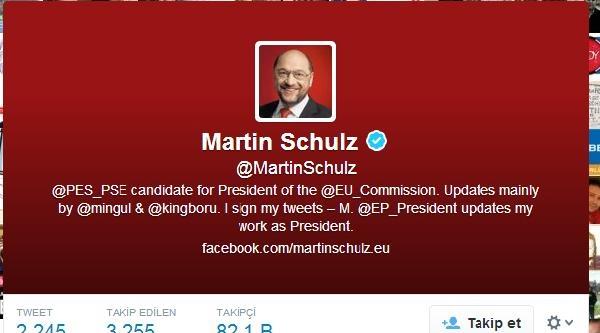 Ap Başkanı Schulz Başbakan Erdoğan'ı İfade Özgürlüğünü Hemen Serbest Bırakmaya Çağiriyorum