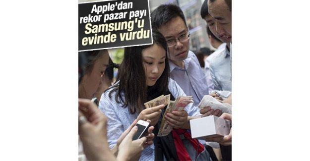 Apple Samsung'un anavatanında rekor kırdı