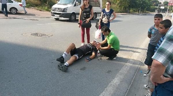 Aracın Çarpip Kaçtığı Bisikletli Yaralandı