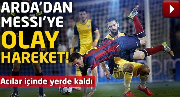 Arda Messi'ye öyle bir hareket yaptı ki...