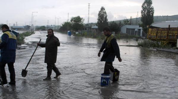 Ardahan'da Sağnak Yağış Su Baskınlarına Neden Oldu