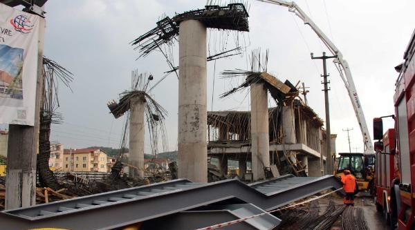 Arifiye'de Yüksek Hızlı Tren İstasyonu İnşaati Çöktü: 6 Yaralı  (3)