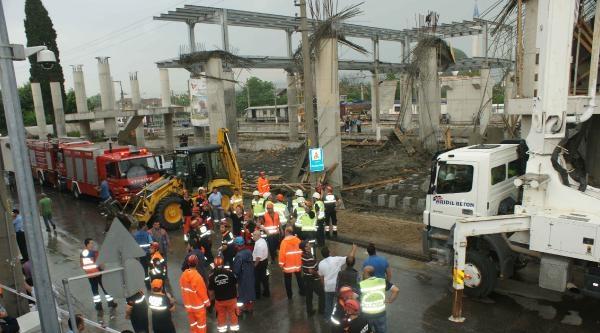 Arifiye'de Yüksek Hızlı Tren İstasyonu İnşaati Çöktü: 6 Yaralı (ek Fotoğraf)