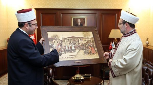 Arnavutluk İslam Birliği Başkanı Bruçay'dan Diyanet İşleri Başkanı Mehmet Görmez'e Ziyaret