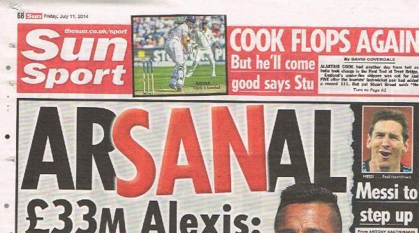 Arsenal 33 Milyon Sterline Barcelona'dan Alexis Sanchez'i Aldı
