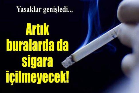 Artık bu noktalarda da sigara içilmeyecek