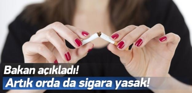 Artık orda da sigara yasak!