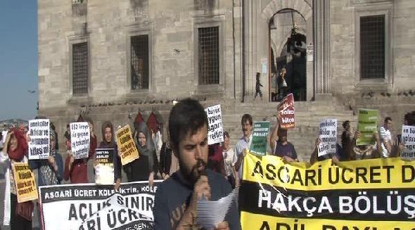 Asgari Ücrete 45 Liralık Zam Protesto Edildi