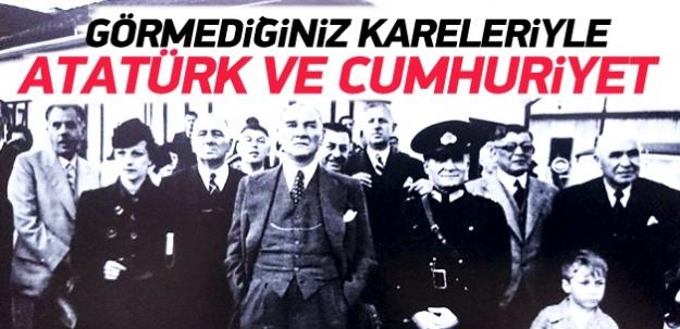 Atatürk'ün bu fotoğrafları ilk kez yayınlandı