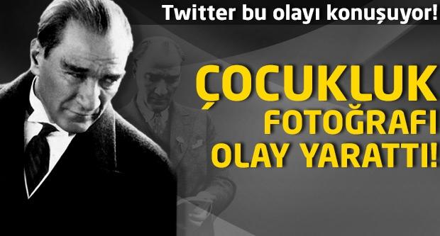 Atatürk'ün çocukluk fotoğrafı olay yarattı!