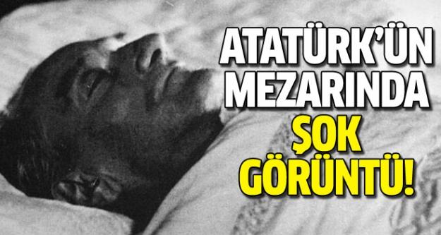 Atatürk'ün mezarında şaşırtan görüntü!