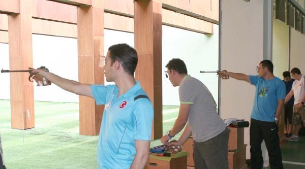 Atıcılık Milli Takımı Erdemli'de Seçiliyor