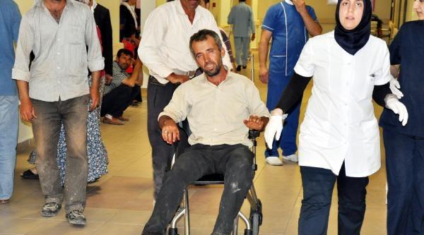 Ayağını Biçerdöver Bıçağına Kaptıran Çiftçi Yaralandı