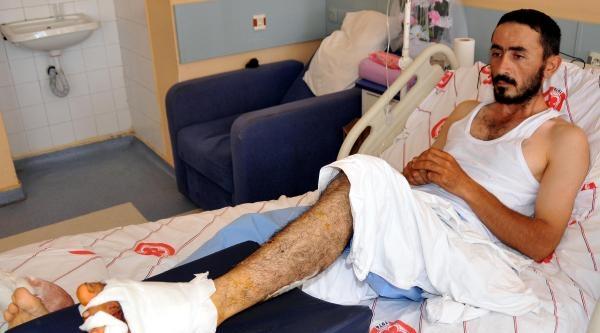 Ayağını Saman Balya Makinesine Kaptırdı