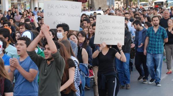 Aydın'da Soma Protestosu