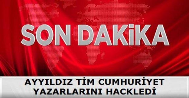 AYYILDIZ TİM CUMHURİYET YAZARLARINI HACKLEDİ!
