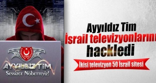 Ayyıldız Tim, İsrail televizyonlarını hackledi