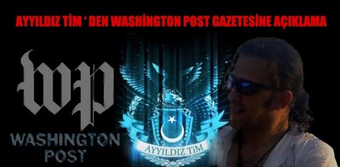 Ayyıldız Tim'den Washington Post Gazetesine Açıklama