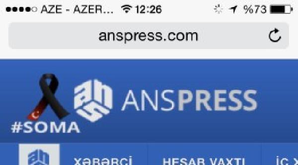 Azerbaycan Basını Da 'soma' Yasına Ortak Oldu
