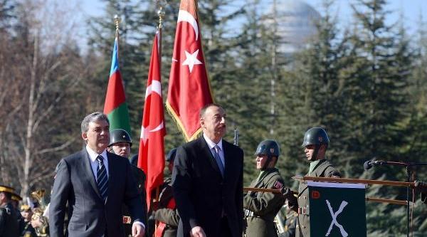 Azerbaycan Cumhurbaşkani Aliyev Çankaya Köşkü'nde