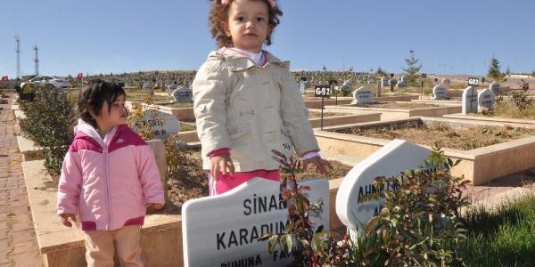 Azra, Depremde Ölen Babasinin Mezarini Ziyaret Etti