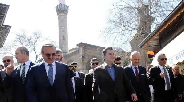 Babacan, Bursa'da Kapalı Çarşi'yi Gezdi
