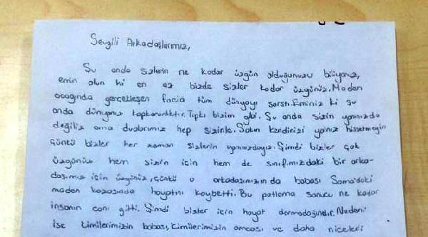Babası Faciada Ölen Furkan'ın Arkadaşlarından Soma'ya Mektup