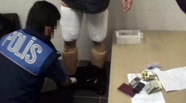 Bacaklarına Sarılı 11 Kilo 759 Gram Kokain Ele Geçirildi