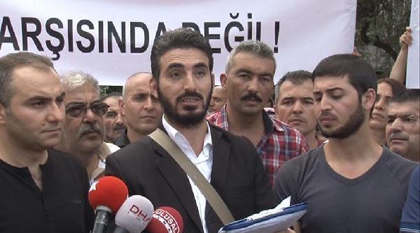 Bağcılar Belediyesi Önünde 'riskli Alan' Protestosu