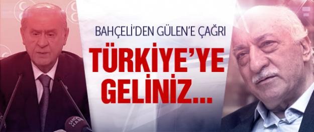 Bahçeli'den Gülen'e kritik Türkiye çağrısı!