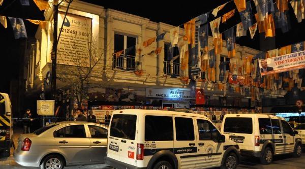 Bahçelievler Ak Parti Seçim İrtibat Bürosu'na Molotoflu Saldırı