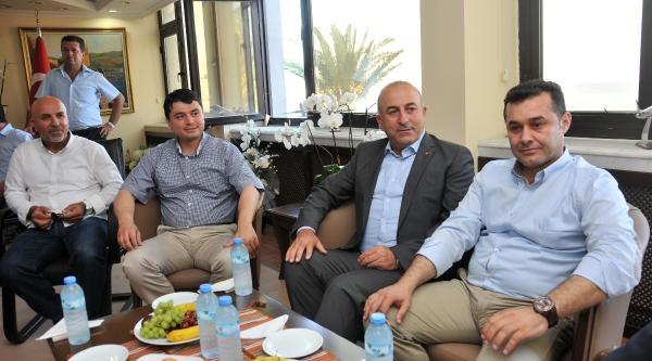 Bakan Çavuşoğlu Mhp'li Başkanı Ziyaret Etti