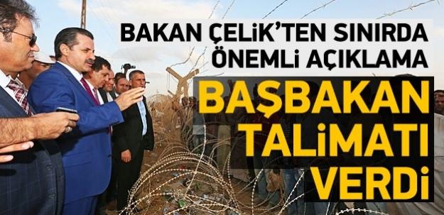 Bakan Çelik'ten sınırda önemli açıklamalar