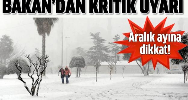 Bakan Eroğlu'ndan Don ve Kar Uyarısı