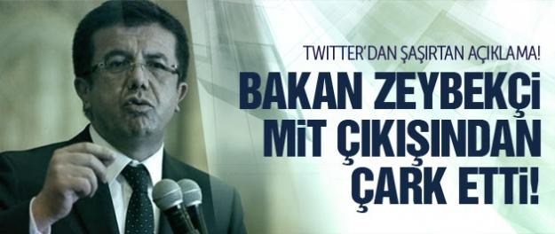 Bakan Nihat Zeybekçi'den MİT çarkı!