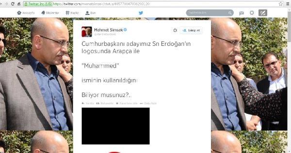 Bakan Şimşek: Erdoğan'ın Logosunda Arapça İle