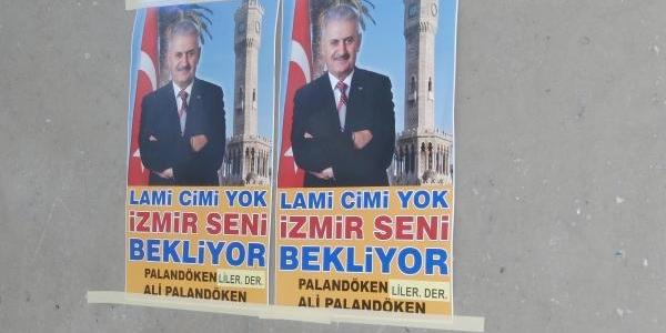 Bakan Yildirim Için 'lami Cimi Yok, Izmir Seni Bekliyor' Afişi