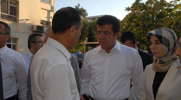 Bakan Zeybekci, Patlamada Yaralananları Ziyaret Etti