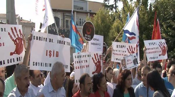 Bakırköy'de Işid Protesto Edildi