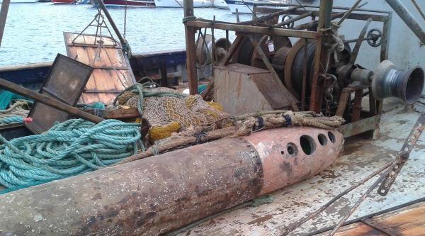 Balıkçının Ağına Torpido Takıldı