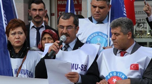 Balikesir'de Memurlarin Zam Protestosu