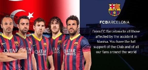 Barcelona Kulübü'nden Soma Mesajı