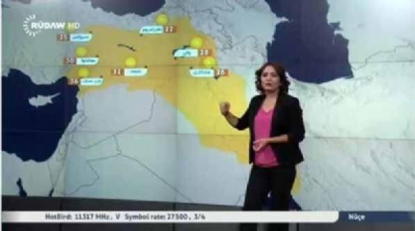 Barzani'nin Kanalında Kürdistan Haritasında Türkiye de Var!