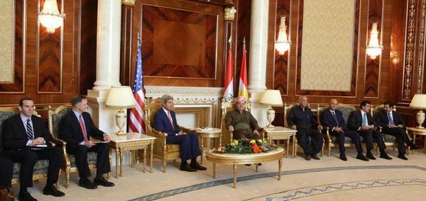 Barzani'yi Ziyaret Eden Abd Dışişleri Bakanı Kerry: Bölgedenizdeki İlerleme Beni Şaşirtti