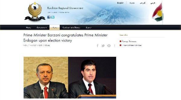Başbakan Barzani'den Erdoğan'a Kutlama Telefonu