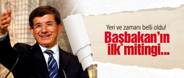 Başbakan Davutoğlu ilk mitingine hazırlanıyor!